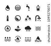 water icons set isolated on... | Shutterstock .eps vector #1095270071