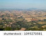 panorama on the marche hills... | Shutterstock . vector #1095270581