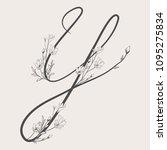 vector hand drawn flowered y... | Shutterstock .eps vector #1095275834