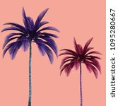 colorful palm tree  3d... | Shutterstock . vector #1095280667