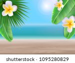 hello summer background with... | Shutterstock .eps vector #1095280829