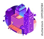 vector city isometric concept... | Shutterstock .eps vector #1095282584