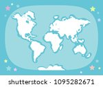 world map with continents ... | Shutterstock .eps vector #1095282671