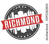 richmond virginia round travel... | Shutterstock .eps vector #1095282824