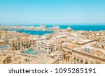 valletta  malta panorama   the... | Shutterstock . vector #1095285191