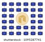 block chain technology of neo... | Shutterstock .eps vector #1095287741