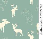 deers seamless pattern | Shutterstock .eps vector #109529747
