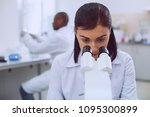 women in science. intelligent... | Shutterstock . vector #1095300899