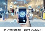 shopping and communication... | Shutterstock . vector #1095302324