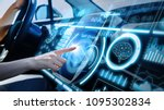 futuristic instrument panel of... | Shutterstock . vector #1095302834