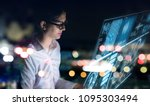 futuristic graphical user... | Shutterstock . vector #1095303494
