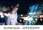 futuristic graphical user... | Shutterstock . vector #1095303494