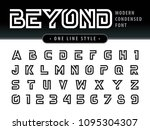 vector of futuristic alphabet... | Shutterstock .eps vector #1095304307