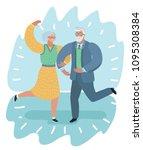 vector cartoon illustration of... | Shutterstock .eps vector #1095308384