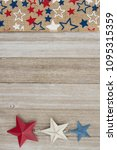 red  white and blue stars... | Shutterstock . vector #1095315359