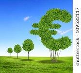 green grass euro symbol against ... | Shutterstock . vector #109532117