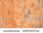 old blue painted wall with rust ... | Shutterstock . vector #1095324761