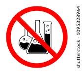 prohibited flask vector symbol. ... | Shutterstock .eps vector #1095328964