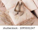 Blush Pink Bridal Shoes And...