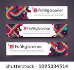 tv show broadcast funky neon... | Shutterstock .eps vector #1095334514