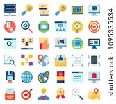 simple seo icons set. universal ... | Shutterstock .eps vector #1095335534