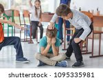 children bullying their... | Shutterstock . vector #1095335981