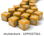 rss and news   3d   Shutterstock . vector #1095337361