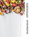 assortment various barbecue... | Shutterstock . vector #1095342854