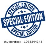 special edition blue round... | Shutterstock .eps vector #1095344345