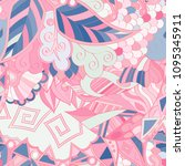 tracery seamless pattern.... | Shutterstock .eps vector #1095345911
