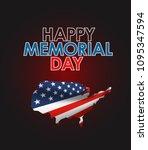 memorial day greeting vector... | Shutterstock .eps vector #1095347594
