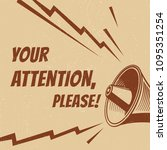 attention please vector poster... | Shutterstock .eps vector #1095351254