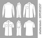 casual mans blank outline...   Shutterstock .eps vector #1095351257