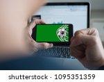 live broadcast sport channel ...   Shutterstock . vector #1095351359