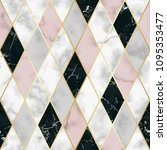 vector marble seamless pattern... | Shutterstock .eps vector #1095353477