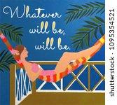 islands vacation illustration | Shutterstock . vector #1095354521