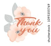 thank you. calligraphic text... | Shutterstock .eps vector #1095355769