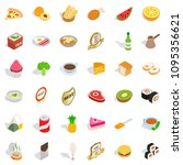 bakery shop icons set.... | Shutterstock . vector #1095356621