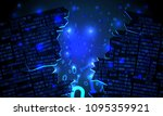 abstract futuristic cyberspace... | Shutterstock .eps vector #1095359921