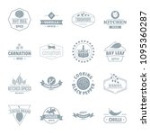 spice logo icons set. simple... | Shutterstock . vector #1095360287