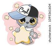 cute cartoon british kitten in... | Shutterstock .eps vector #1095361604