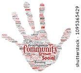 vector conceptual community ... | Shutterstock .eps vector #1095365429