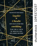 wedding luxury invitation card   Shutterstock .eps vector #1095372257