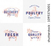 premium quality vintage meat... | Shutterstock .eps vector #1095376001