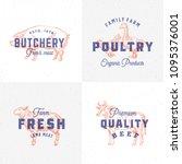 premium quality vintage meat... | Shutterstock .eps vector #1095376001