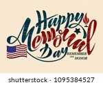 vector illustration happy... | Shutterstock .eps vector #1095384527