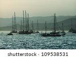 sailing boats on Mediterranean sea, France, Cote d'Azure - stock photo