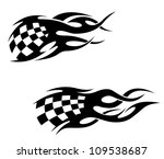 tattoos with checkered flag in... | Shutterstock .eps vector #109538687