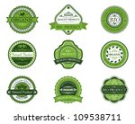 bio and ecological labels set... | Shutterstock .eps vector #109538711
