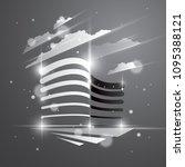 office building  modern...   Shutterstock .eps vector #1095388121